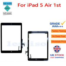 For iPad 5 Air 1st A1474 A1475 A1476 Touch Screen Glass Digitizer + Button Black
