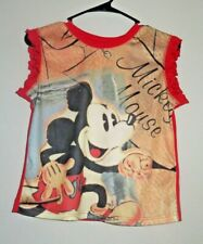 Disney Girls Size 14-16 Mickey Mouse Ruffle Sleeveless Top
