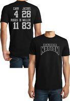 Las Vegas Football Black T-shirt Tee,Josh Jacobs,Carr,Henry Ruggs,Jersey,Raiders