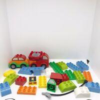 Lego Duplo Vehicles Bundle Building Bricks Joblot Wheels Blocks Hose