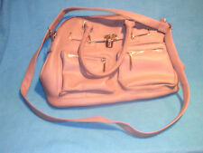 Rampage Leather Style Handbag with Gold Accents, Tan with Plenty of Compartments