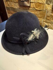 Ladies Navy Blue Wedding/Special Occasion Hat.