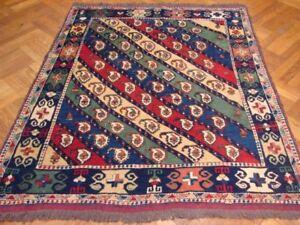 Handmade Rug 5' x 6' Multi Color Kazak Wool Paisley Square Area Rugs deals Rug