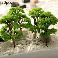 50PCS Trees Model Garden Train Railway Architectural Scenery Layout Model Tree