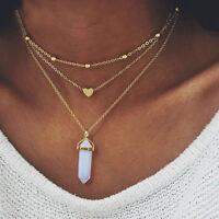 Women Alloy Choker Bib Statement Pendant Chain Collar Necklace Fashion Jewelry