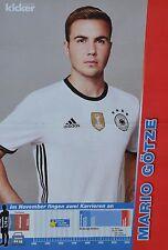 MARIO GÖTZE - A3 Poster (ca. 42 x 28 cm) - Fußball EM 2016 Clippings Sammlung