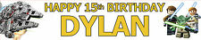 LEGO STAR WARS PERSONALISED BIRTHDAY BANNERS PACK OF TWO