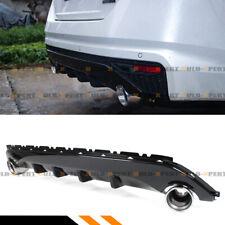 FOR 19-2020 Nissan Altima S Black Shark Fin Rear Bumper Diffuser + Exhaust Tips