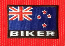 NEW ZEALAND KIWI FLAG BIKER MOTORBIKE BIKE VEST CAP BADGE IRON SEW ON PATCH
