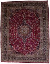 Hand-Knotted Vintage Plush 10X13 Traditional Floral Oriental Rug Decor Carpet