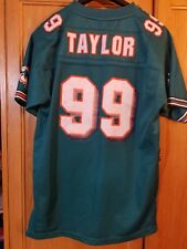 1e744a003 MIAMI DOLPHINS   99 JASON TAYLOR NFL AUTHENTIC JERSEY REEBOK STITCHED youth  XL
