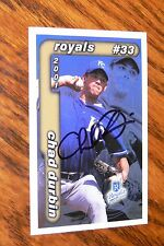 CHAD DURBIN SIGNED AUTOGRAPHED 2001 KANSAS CITY ROYALS POLICE CARD