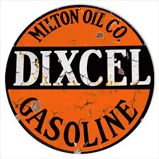 Large Dixcel Gasoline Reproduction Motor Oil Metal Sign 18x18
