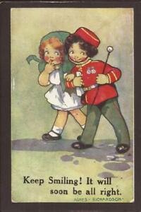 "AGNES RICHARDSON-COMIC CHILDREN-SOLDIER SWEETHEART. ""Keep Smiling!..."" 1914."