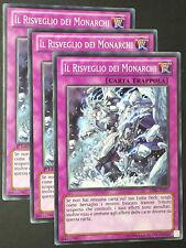 Set 3X IL RISVEGLIO DEI MONARCHI  LVAL-IT077 Trappola Comune in Italiano YUGIOH