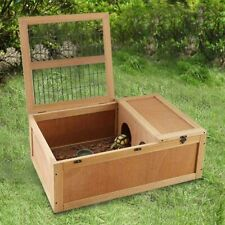 Wooden Tortoise House Reptile Cage Turtle Habitat With Enclosure Indoor Outdoor