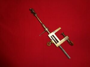 Old Metal & Brass Fly Tying Vice for Big Salmon Irons (Hooks)
