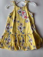 NWT LITTLE BITTY Girls Size 5 Floral Bubble Dress Yellow Summer