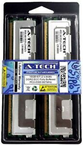 16GB 2 x 8GB ECC FULLY BUFFERED PC2-5300 DIMM DDR2 667 MHz FB Server Memory RAM