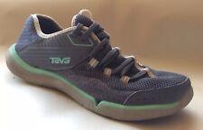 Teva Refugio Womens 7 Med Gray Mint Green Athletic Shoes Light Sneakers 1003983