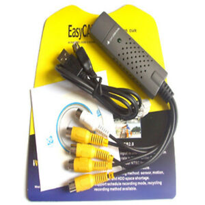 New USB 2.0 Easycap Audio Video VHS to DVD Converter Capture Card Adapter