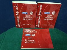 3 Shop Manuals for the 2007 Ford Freestar and Monterey