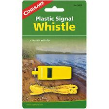 Coghlan's silbato señal de plástico con cordón, Seguridad Supervivencia Camping Emergencia