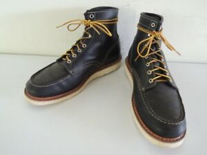 White's PERRY 6-Inch Black Leather Moc Toe Work Boots Size 11 D