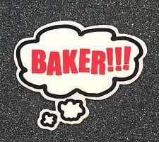 Baker Bubble Skateboard Sticker 3.7in si