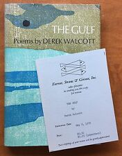 The Gulf. Poems by Derek Walcott - First Edition - 1970 - Advance Review Copy