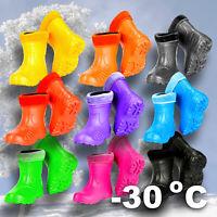 Children WINTER BOOTS Girl Boy Ultralight Insulated Rubber Wellies (-30 degrees)