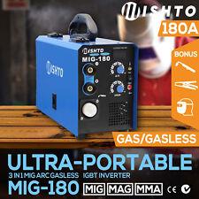 NEW 180 Amp MIG ARC Gas/Gasless Portable Welder Inverter Welding Machine MAG