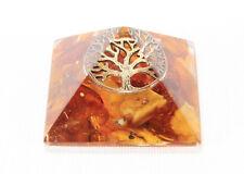 TREE OF LIFE Meditation Orgone Energy Pyramid Natural Baltic Amber Orgonite