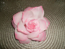 Pink Flower Pin attached Use on lapel, purse, hat, dress package bow NEW