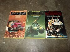 WILLIAM JOHNSTONE~COMPLETE~RIG WARRIOR~SERIES~THREE BOOK ZEBRA PRINT COLLECTION