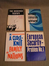 4 1960'S-70'S Novosti Press Agency Moscow Russia Communist Propaganda Books Rare