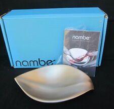"""""""Nambe"""" Eco Nut Bowl Leaf Motif  10"""" X 5.5"""" Silver in Color MT0848 2015 NIB!!!"""