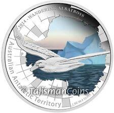 2014 Australian Antarctic Territory Wandering Albatross $1 Pure Silver Proof