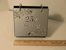 "Hallmark 25th Anniversary Album Table Display holds 40 4x6"" prints 10018"