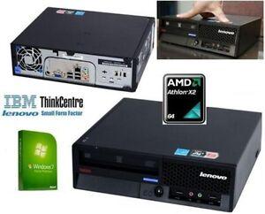 IBM Thinkcentre Usff Windows 7 Pc Ordinateur AMD Athlon X 2 64 3 Go > 2 To 5