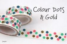 Chugoku Washi Deco Paper Tapes -  Samplers - Colour Dots & Gold