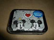 30 Cotton Swabs In A Disney Mickey & Minnie Mouse Collector Tin, NEW IN PACKAGE!