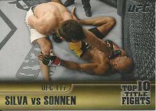 Anderson Silva Chael Sonnen 2011 Topps UFC Title Shot Top 10 Title Fights # TT5