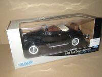 355O Welly 19867W Chine Ford Deluxe Cabriolet Ouvert 1936 Noir 1:18 + Boite