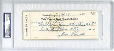 Joe Sewell SIGNED PERSONAL CHECK HOF New York Yankees (DEC) PSA/DNA AUTOGRAPHED