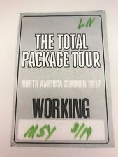 NKOTB Donnie Wahlberg The total Pakage tour 2017 BACKSTAGE PASS Working Crew