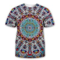 Glow in the Dark Psychedelic 3D print Casual T-Shirt WomenMen Short Sleeve Tops