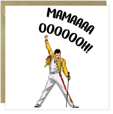 Funny Happy Mothers Day Card Mum Rude Humorous Comical Freddie Mercury Queen /CO