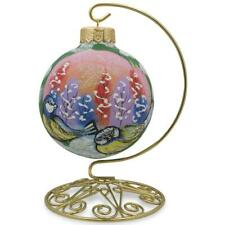 Brass Hook Metal Holder Ornament Stand 6.5 Inches