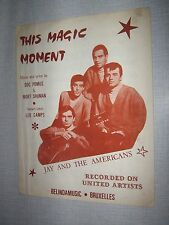PARTITION MUSICALE BELGE JAY AND THE AMERICANS THIS MAG